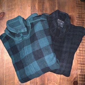 ⭐️BUNDLE DEAL⭐️ 2 UNIQLO full zip fleece jackets